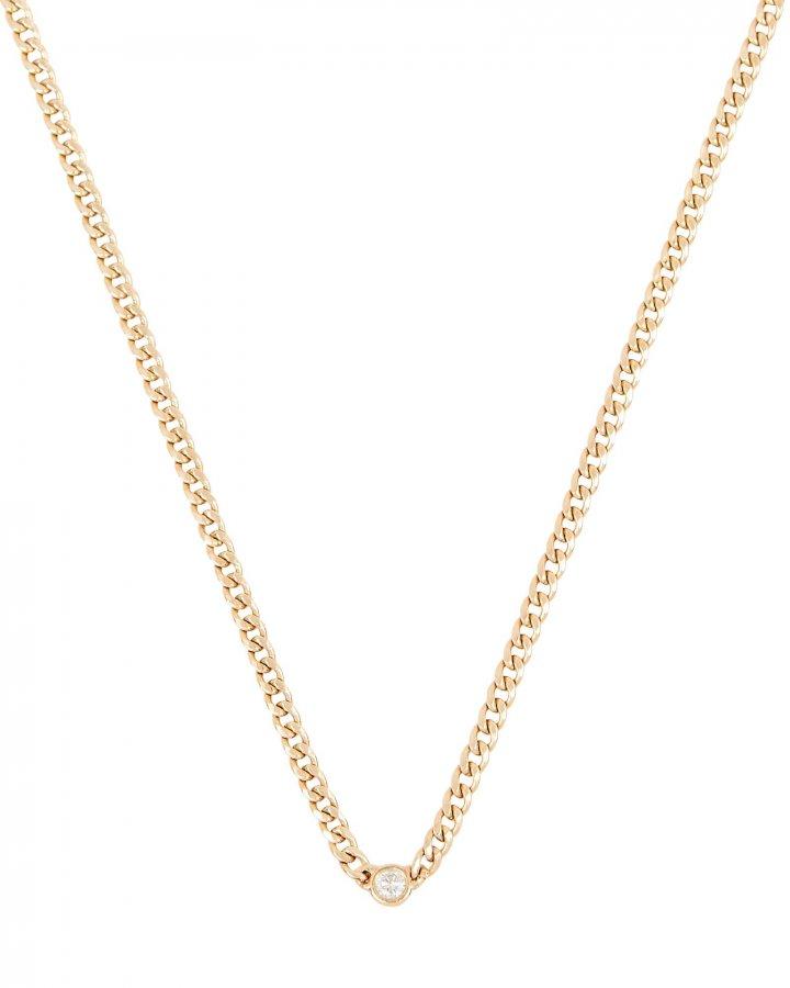 Diamond Curb Chain Necklace