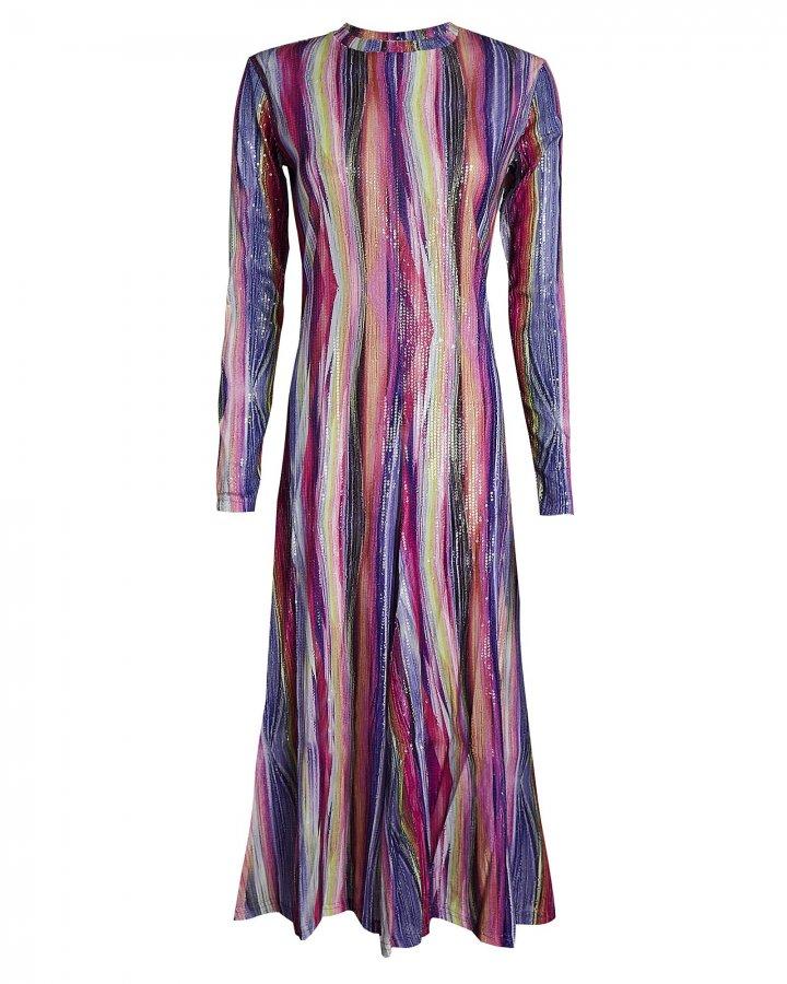 Tai Sequined Midi Dress