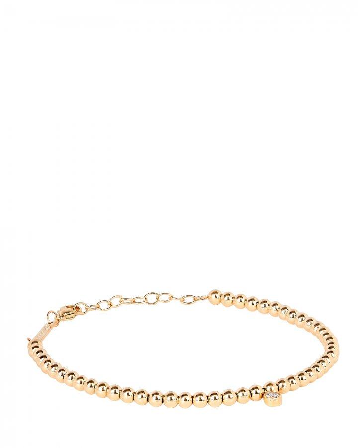 Gold Beaded Diamond Bracelet