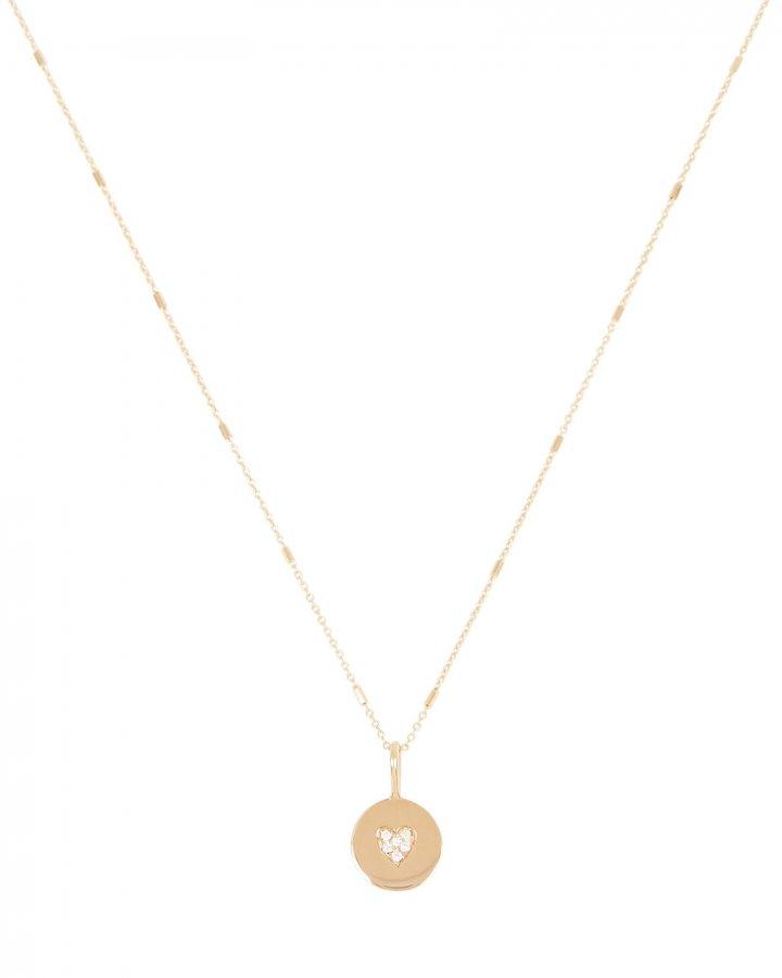 Itty Bitty Pavé Heart Charm Necklace