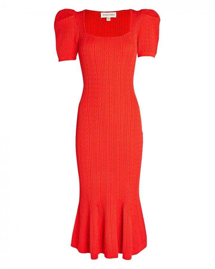 Marley Cable Knit Midi Dress