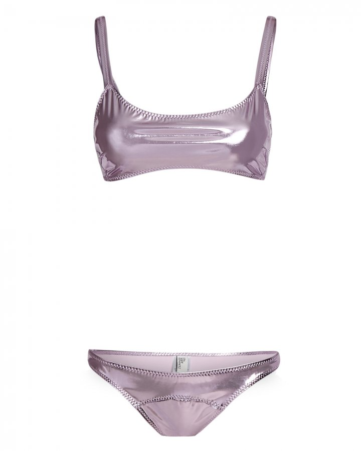 KK Metallic PVC Bikini Set