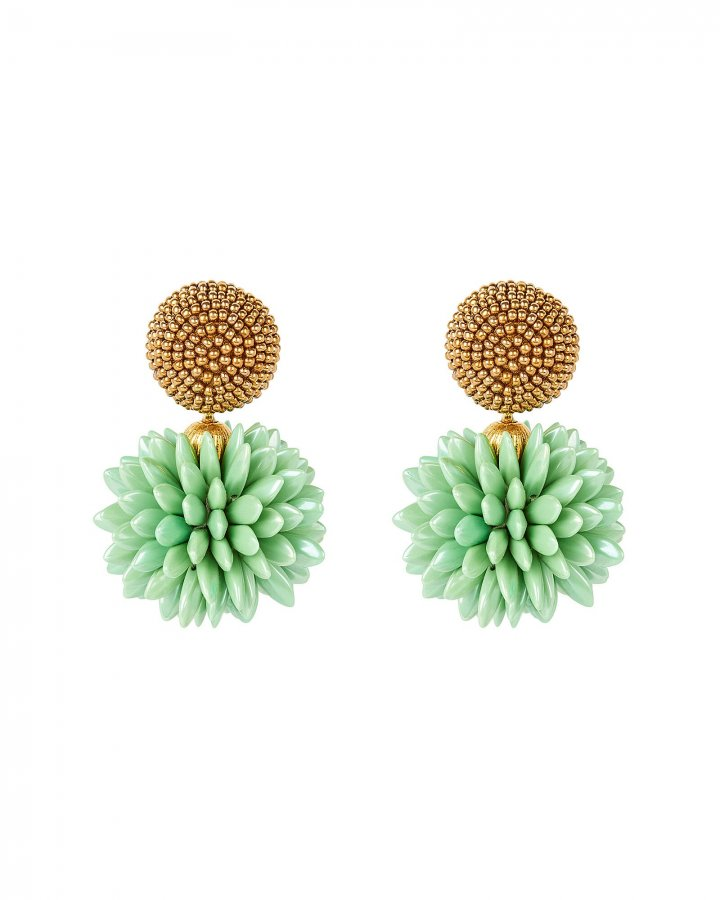 Beaded Cluster Drop Earrings