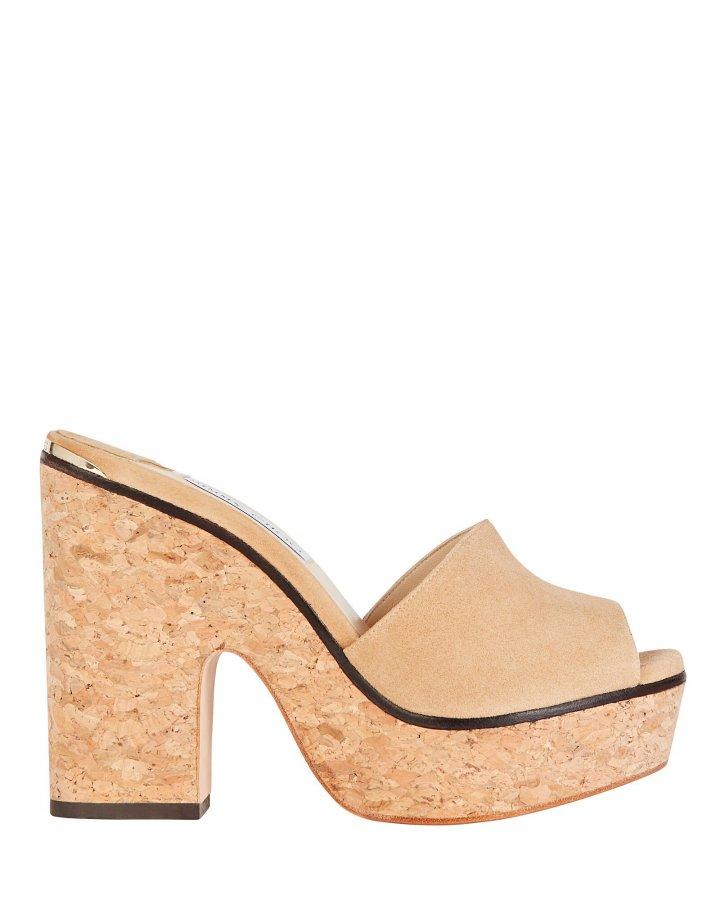 Deedee 125 Suede Platform Sandals