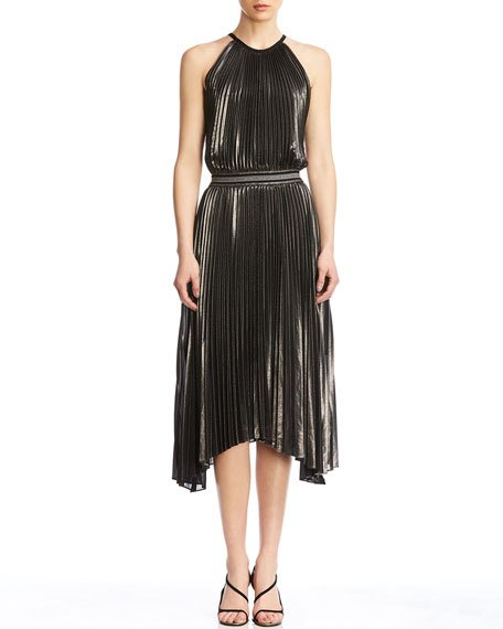 Madison Pleated Asymmetrical Dress