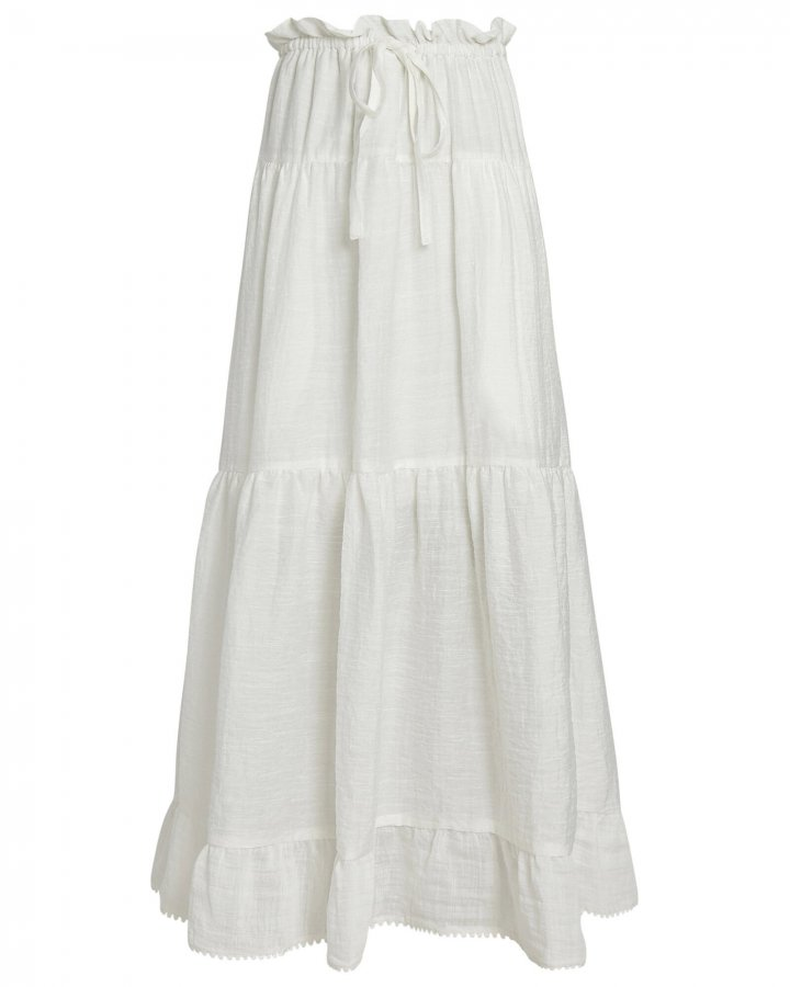 Spring Tiered Midi Skirt