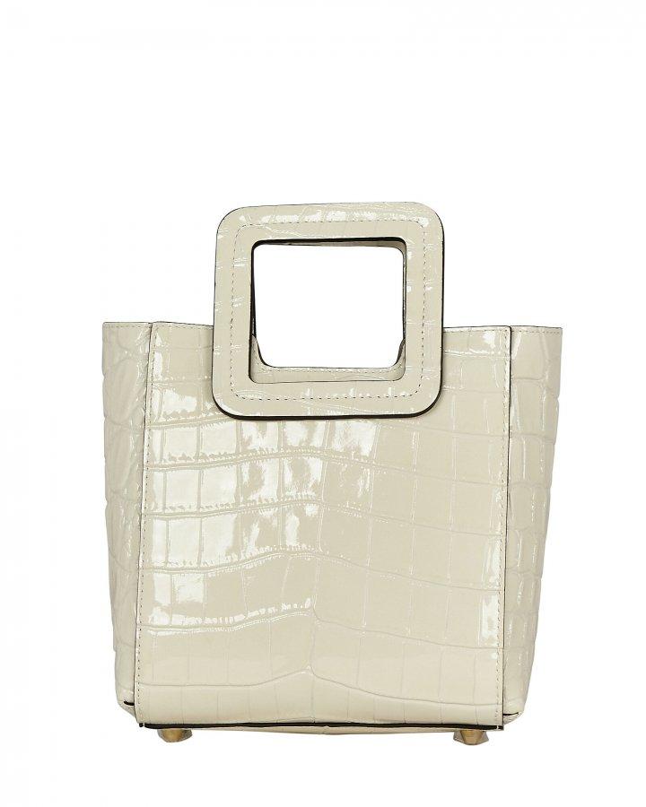 Mini Shirley Croc-Embossed Tote Bag