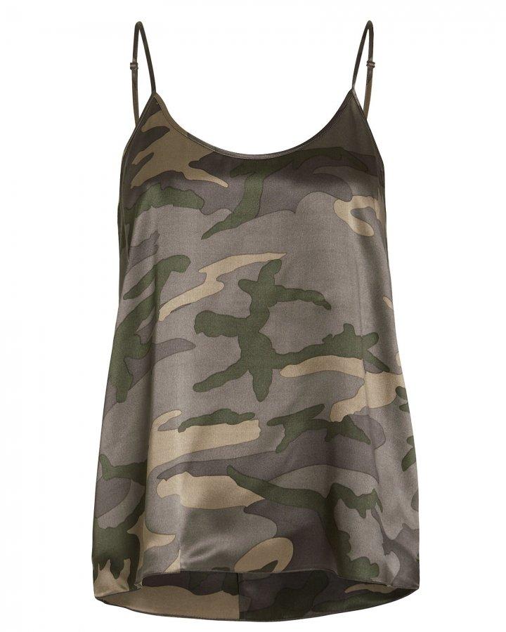 Camouflage Silk Jungle Camisole
