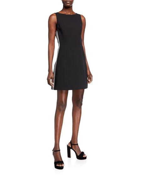 Lindsey Structured Dress w/ Side Stripes