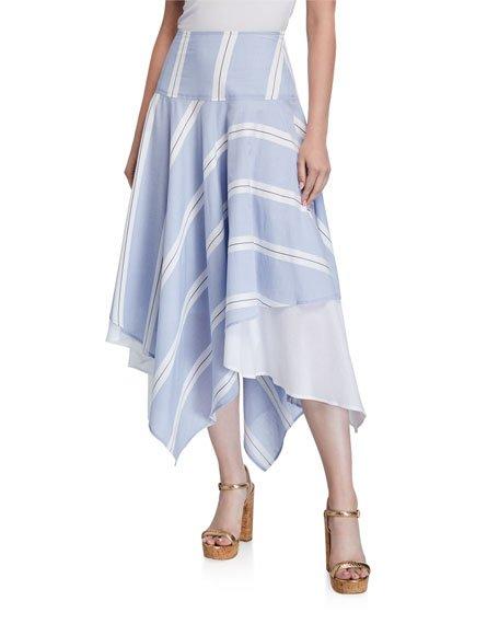 Happy Big Breezy Striped Handkerchief Skirt