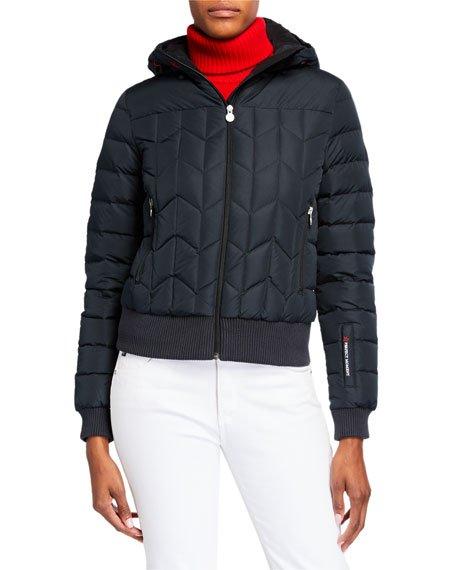 Cordon Down Cropped Jacket, Black
