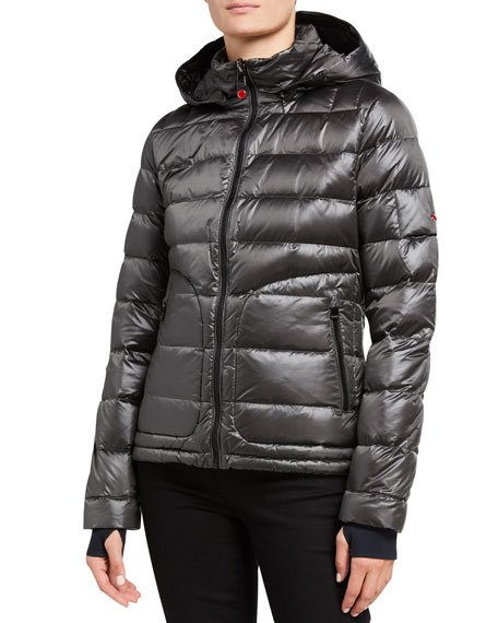 Tailored Down Jacket, Gray