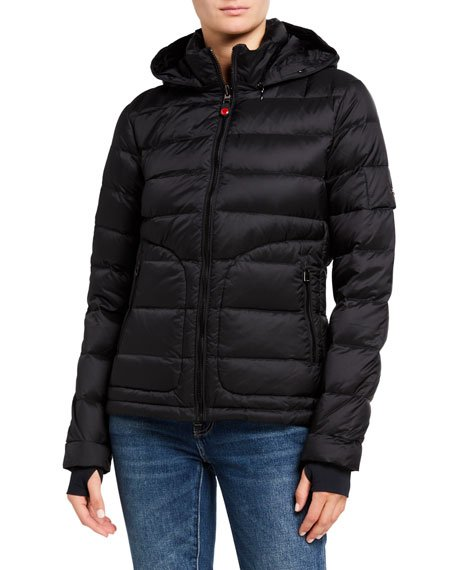 Tailored Down Jacket, Black