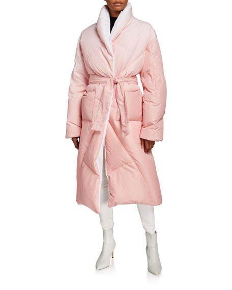 Long Puffer-Coat Robe