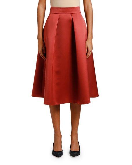 Duchess Satin A-Line Skirt