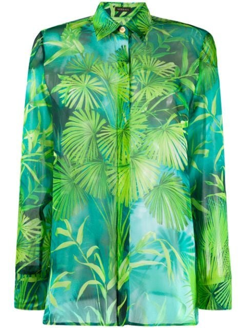 Versace Jungle Print Silk Shirt Ss20 | Farfetch.com