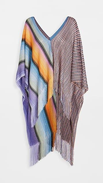 Stripes & Zigzag Poncho