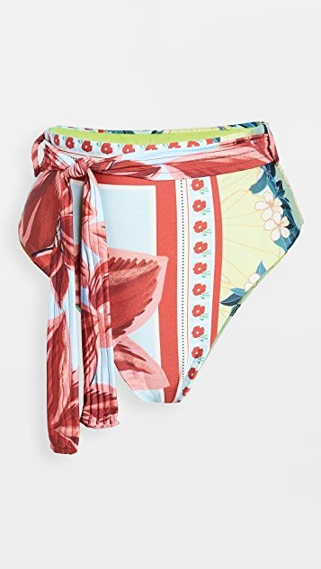 Floral Scarf Bikini Bottoms