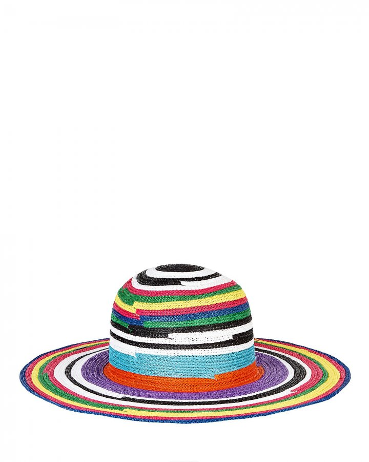 Striped Wide Brim Sun Hat