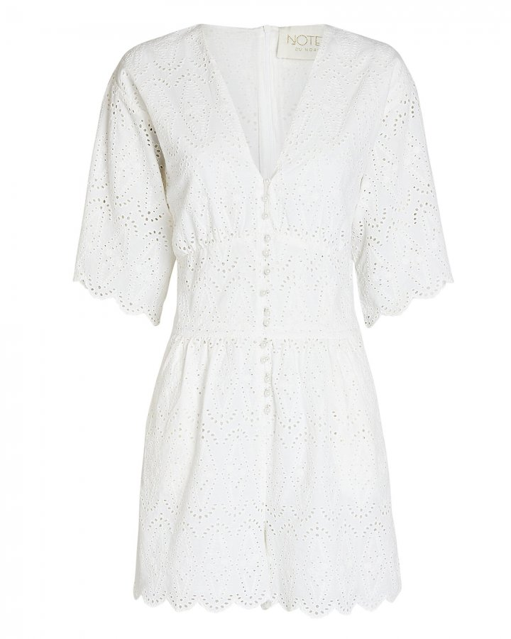 Omia Cotton Eyelet Playsuit