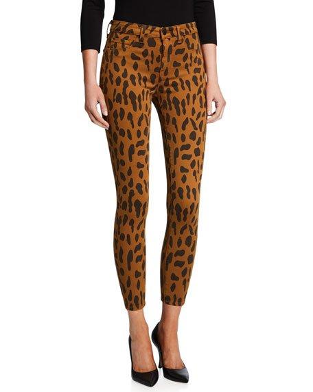 Margot Animal-Print Skinny Jeans