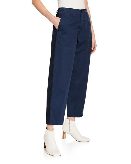 Workman Ankle Pants with Side Stripes