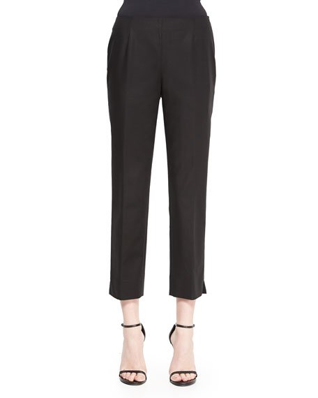 Bleecker Cropped Ankle Pants, Black