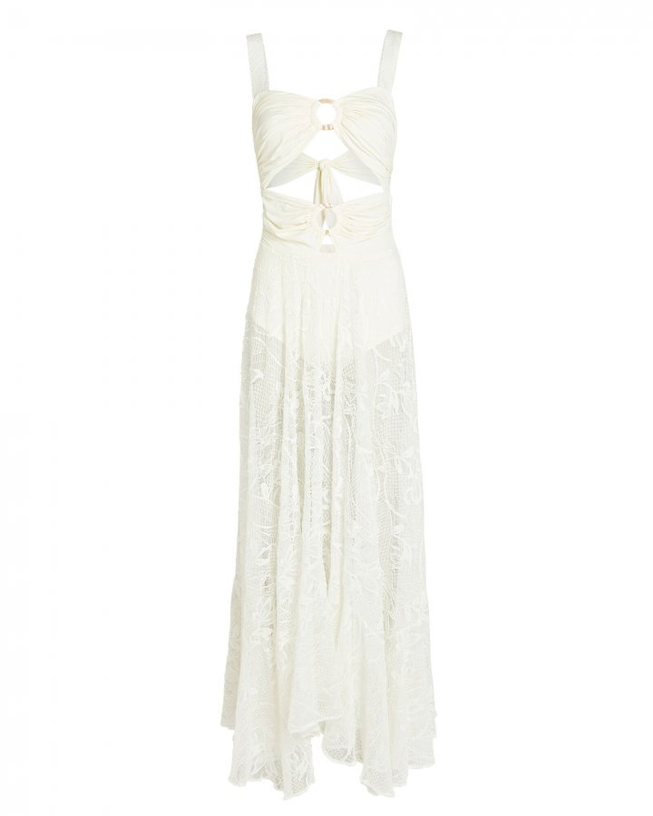 Lace Cut-Out Maxi Dress
