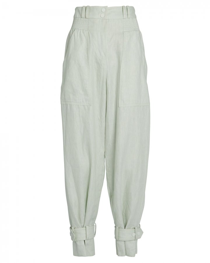 Glassy Slouch Linen Army Pants