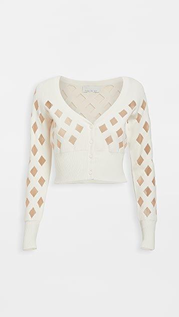 Knit Grid Cardigan