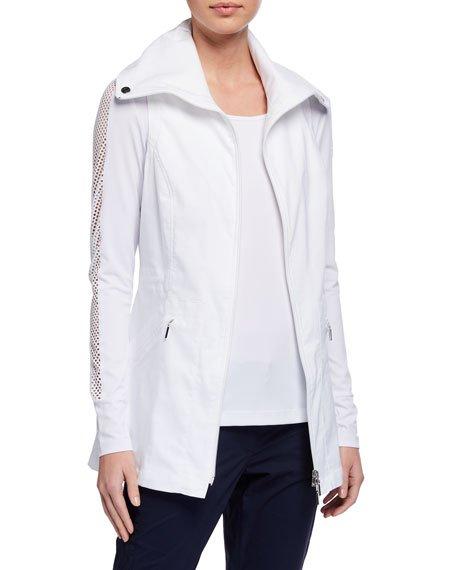 Summer Delaney Long Zip-Front Vest