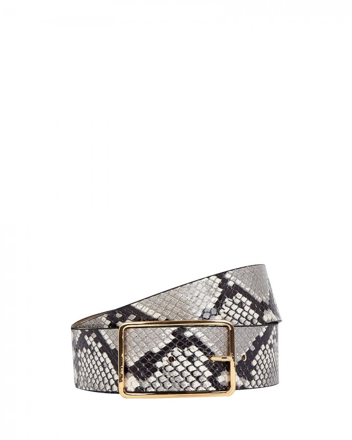 Milla Python Printed Leather Belt