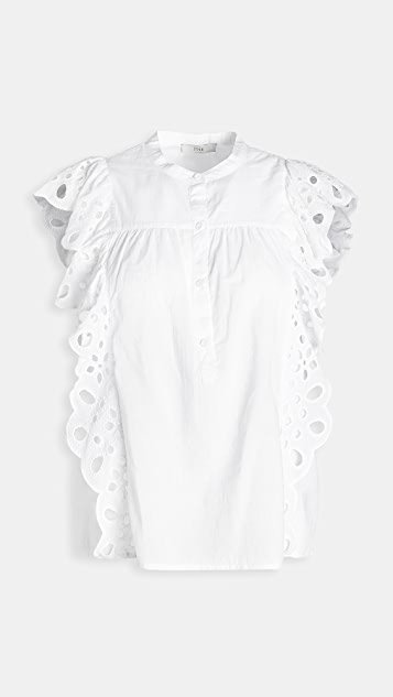 Coralia Embroidered Top