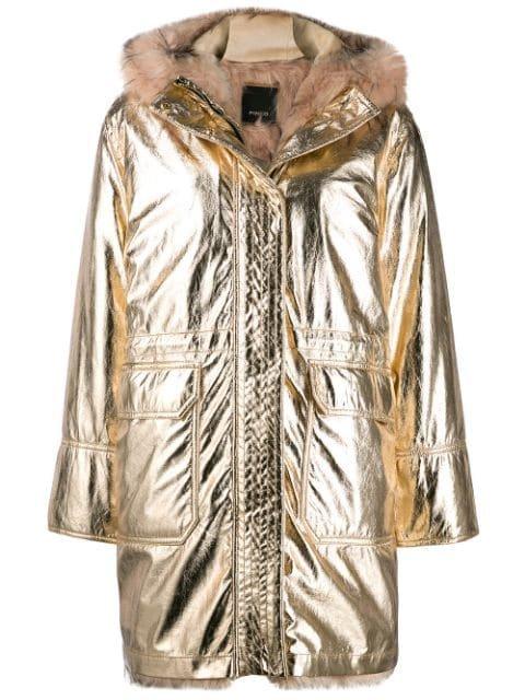 Pinko Faux Fur Lined Parka Coat Aw19 | Farfetch.com