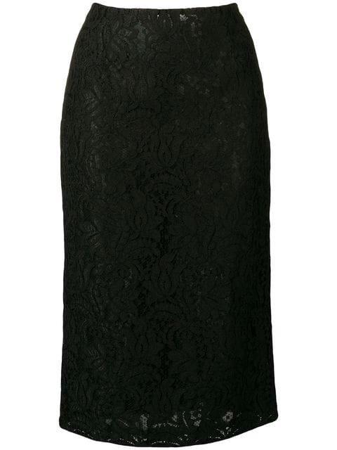 Brognano Black Lace Skirt Ss19 | Farfetch.com