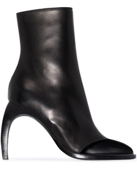 Ann Demeulemeester 70 Curved Heel Boots