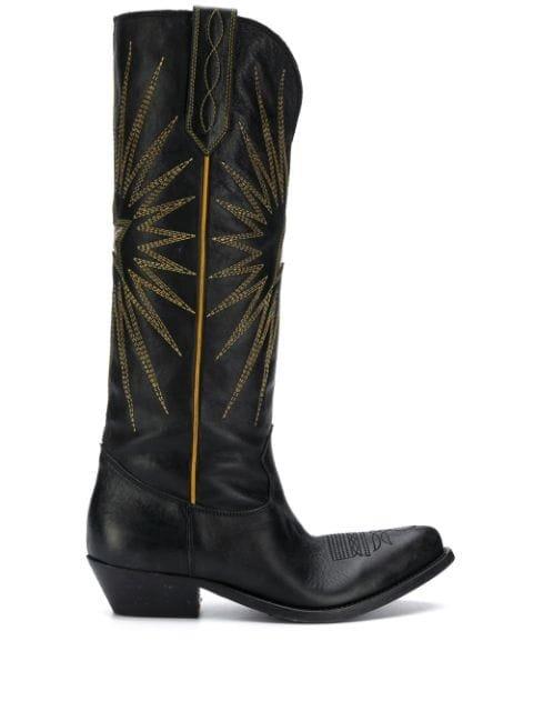 Golden Goose Wish Star Cowboy Boots Ss20 | Farfetch.com