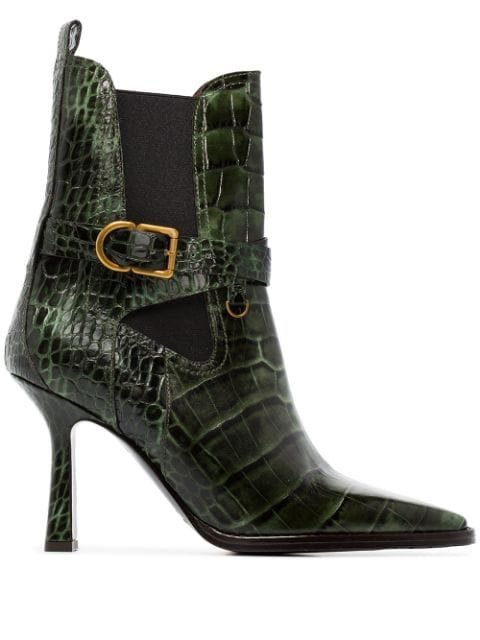 Sies Marjan Naomy 90Mm Crocodile-Effect Boots Ss20 | Farfetch.com
