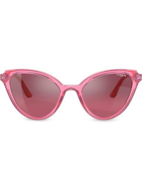 Vogue Eyewear Mod Cut Cat-Eye Frame Sunglasses Ss20 | Farfetch.com