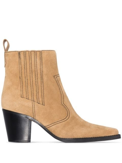 GANNI Western 70mm Ankle Boots