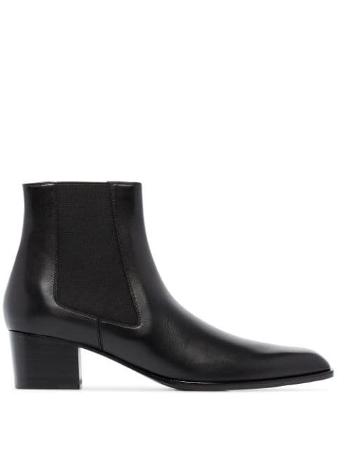 Tom Ford 45Mm Leather Ankle Boots Ss20 | Farfetch.com