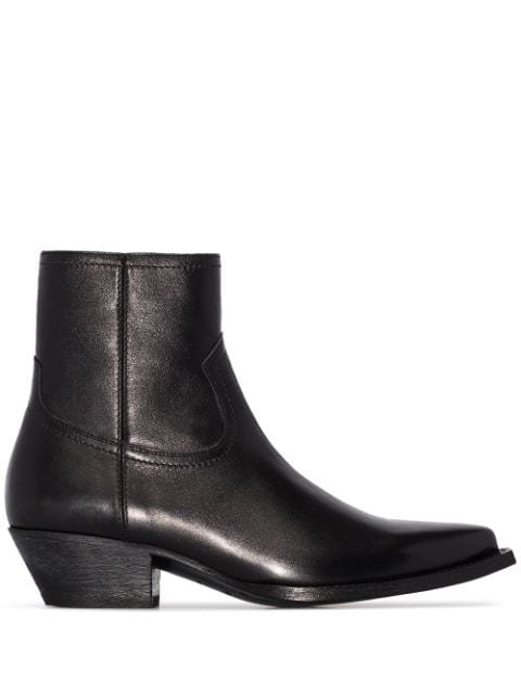 Saint Laurent Pointed Toe Ankle Boots Ss20 | Farfetch.com