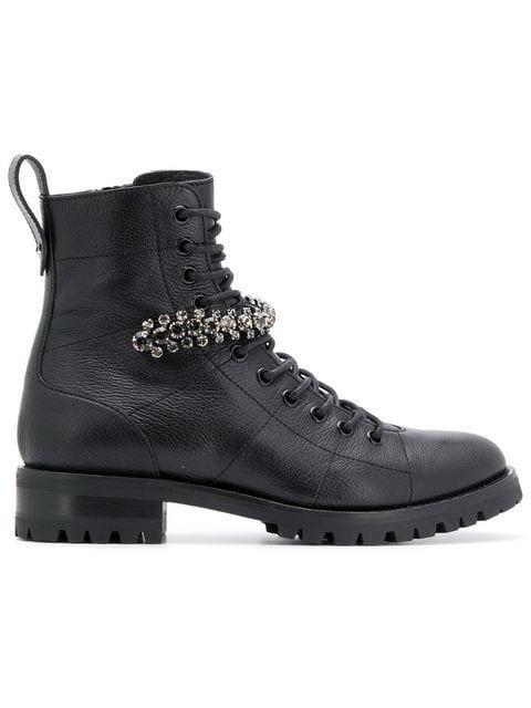 Jimmy Choo Cruz Combat Ankle Boots Ss20 | Farfetch.com