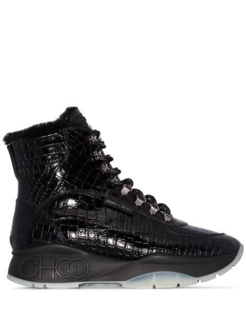 Jimmy Choo Inca Croc-Effect Sneaker Boots Ss20 | Farfetch.com