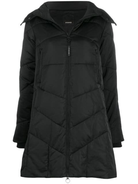 Pinko Quilted Parka Coat Aw19 | Farfetch.com