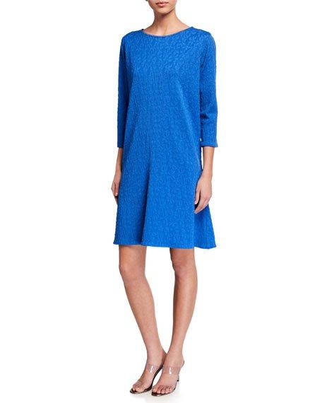 Plus Size Pinwheel Knit 4 Gore Dress
