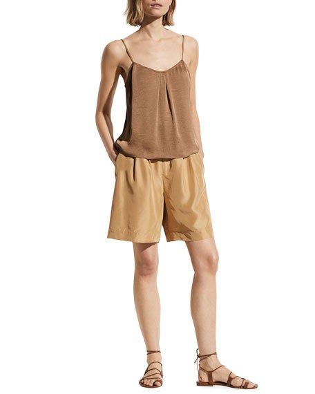 Pleated-Front Camisole