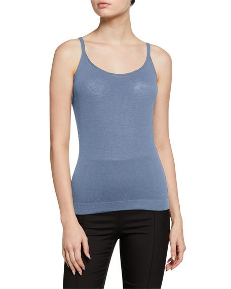 Scoop-Neck Fitted Matte Tank Top