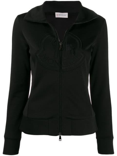 Moncler Zip-Up Logo Sweatshirt Aw19   Farfetch.com