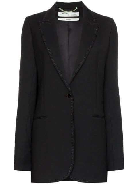 Off-White Single-Breasted Longline Blazer Aw19 | Farfetch.com